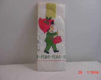 Vintage Hallmark Plan A Party Little Drummer Boy Christmas Paper Table Cloth In Original Packaging   17 - 907
