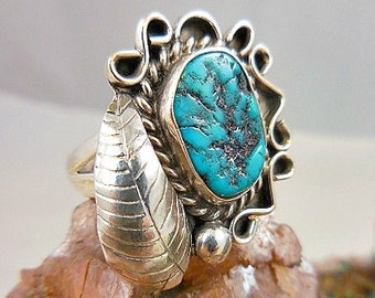 Native American Turquoise Sterling Silver Ring