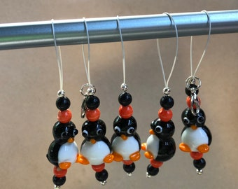 Penguin Knitting and Crochet Stitch Markers