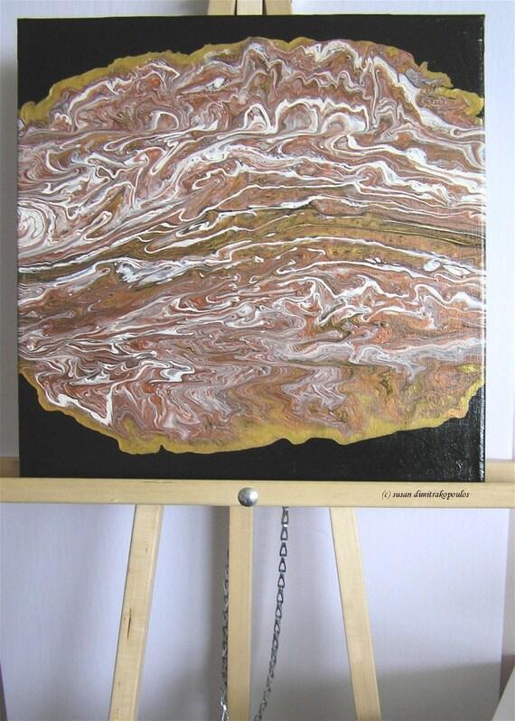 Muskoka Abstract Free Shipping Landscape Liquid Acrylic Poured Etsy