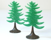 Vintage Plastic Christmas Trees