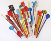 Vintage Swizzle Sticks Group of 31