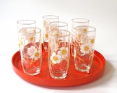 Vintage Saki Glasses Cherry Blossoms