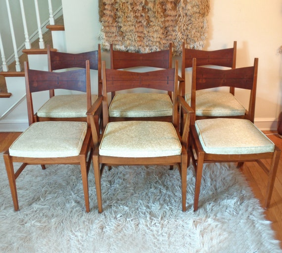 Astonishing Mid Century Modern Lane Tuxedo Table And Chairs Local Pickup Only Bralicious Painted Fabric Chair Ideas Braliciousco