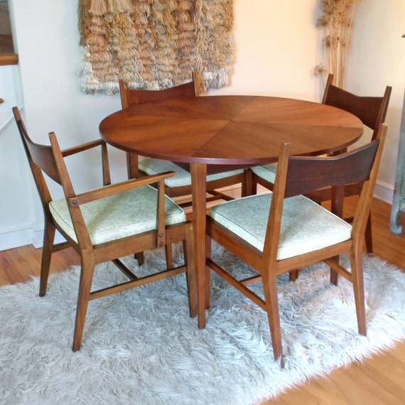 Awe Inspiring Mid Century Modern Lane Tuxedo Table And Chairs Local Pickup Only Bralicious Painted Fabric Chair Ideas Braliciousco