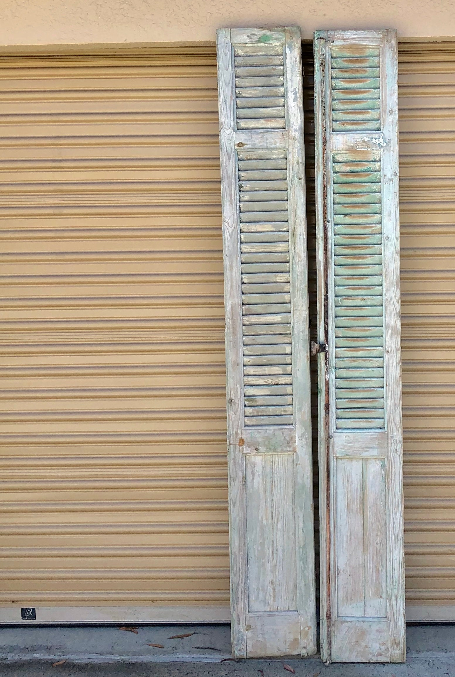Vintage French White Shutters French Chateau Vintage Chippy White French Shutters