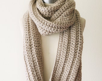 Chunky Scarf in Linen - SALE