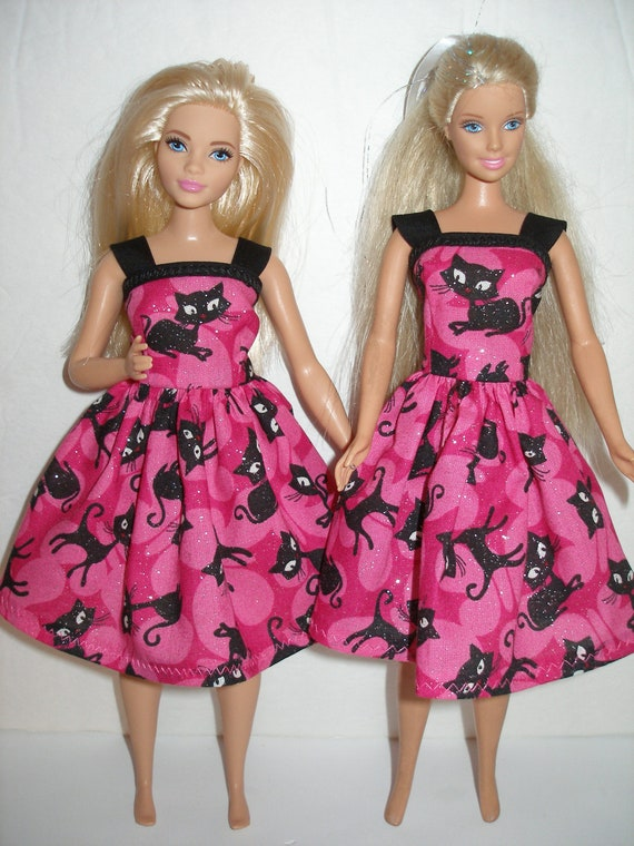 BARBIE CLOTHES FASHIONISTAS  PETITE DOLL RED KITTEN DRESS ONLY