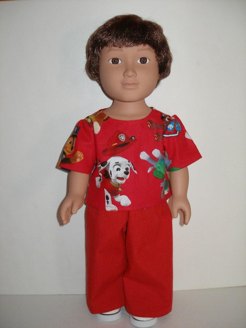 1976f343d72 Hose Set für 18-Zoll-Puppen rote Pfote Patrouille