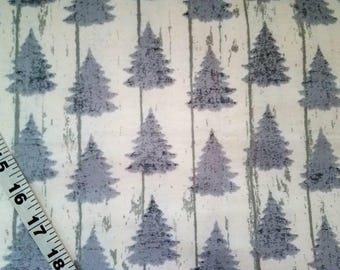 ca3ce86e05d Flannel fabric with trees fir pine cotton print sewing material quilter  craft flannel tree fabric BTY by the yard