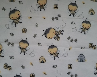 Flannel fairy fabric BTY kids flannel fabric with fairies fairy dust magical words faeries cotton print quilt sewing material quilter