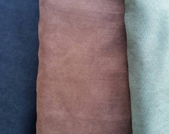 "Micro suede cloth fabric polyester crafting sewing material BTY 58"" wide variety of colors olive green black brown"