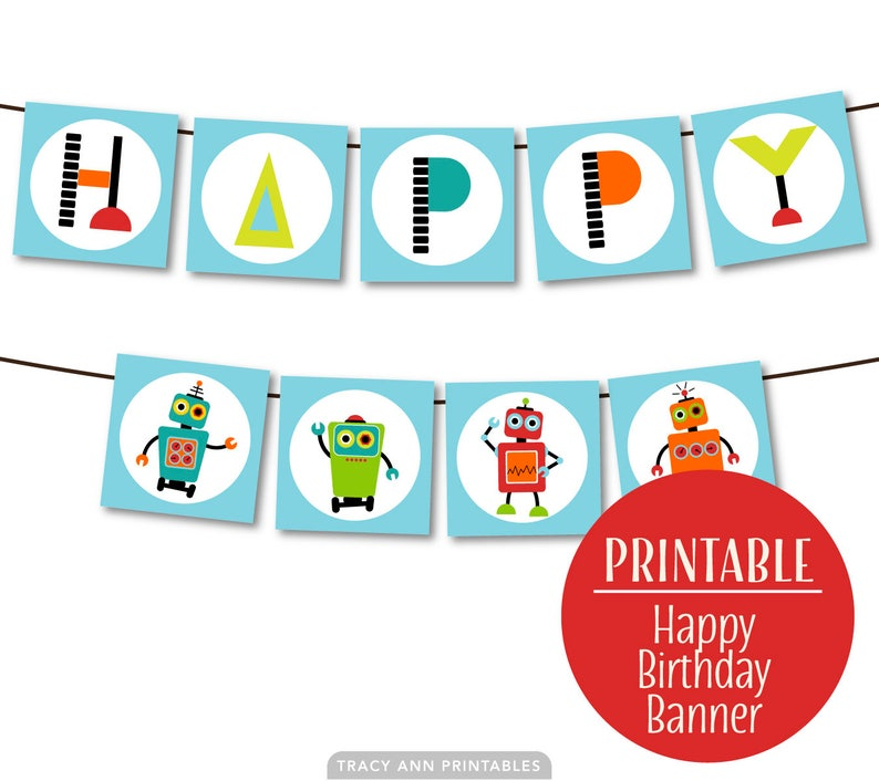 photo about Printable Robot named Printable Robotic Social gathering Banner, Robotic Bunting, Robotic Social gathering Flags, Do-it-yourself. Instantaneous Obtain 1122