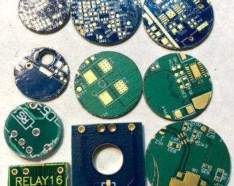 Original Computer Circuit Board Pieces, Jewelry Making, Recycle, Repurpose, Group of 10