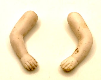 1 Set of German Antique Bisque Doll Arms Set of 2 - Lot (B1)
