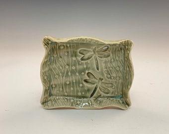 Handmade Rectangular Celadon Tray