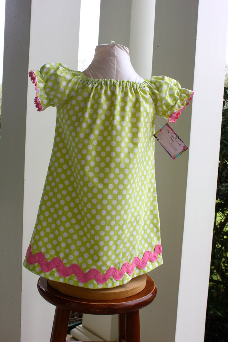 Spring  Easter Peasant Dress ready to ship Last one size 3t
