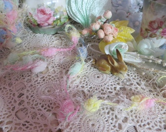 Puff Ball Trim-Easter Pastel-Altered Art-Mixed Media-Supplies-5 yards