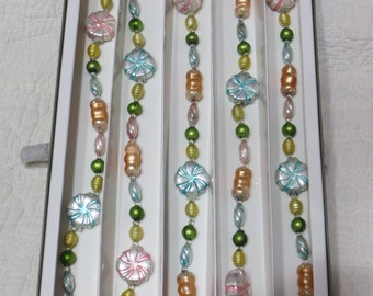 Vintage Glass Christmas Tree Garland-Candy-Pastel