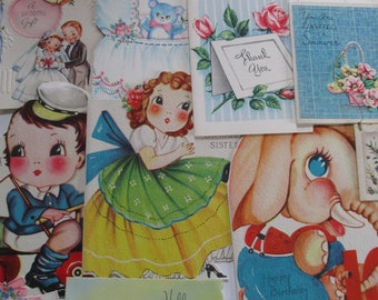 Vintage Greeting Card Lot-Over 100-ALL UNUSED-1940's-1960's