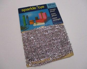 Vintage Silver Tinsel Garland-Old Stock-Retro-Mid-century-1960's