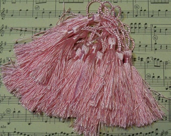 Pink French Tassels-DIY-Garland-Bunting-Supplies-Marie Antoinette-6 pieces