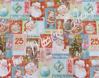 Gift Wrap-Wrapping Paper-Christmas-Children-Classic Christmas-Retro-Mid Century