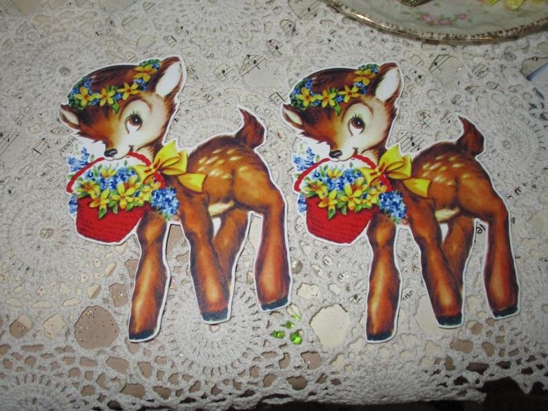Jumbo Sweet Oh Deer Tags-with Ribbon Ties-Set of 2 Jumbo-ATC-Die Cuts