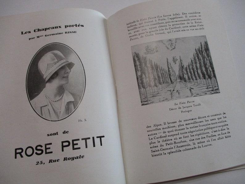 Antique French Program Theater Book-Academie Nationale De Musique Et De Danse-Art Deco-1920/'s-Advertising-Ticket