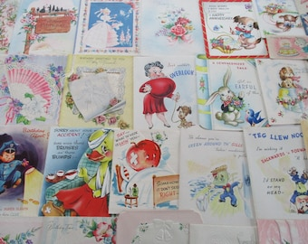 Vintage Greeting Card Lot-Over 100-ALL UNUSED-1950's-1970's