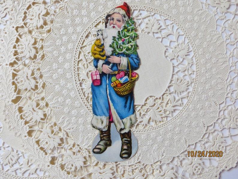 Antique Victorian Scraps-Victorian Santa-Die cut-German-NOT a REPRO
