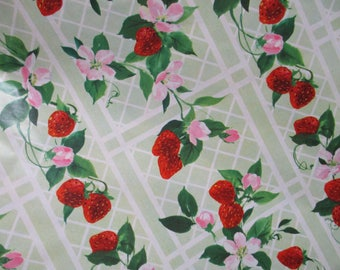 Vintage Gift Wrap-Wrapping Paper-Fresh Strawberries