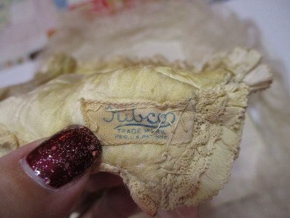 Vintage Silk Smocked Baby Bonnet-Victorian-Embroi… - image 5