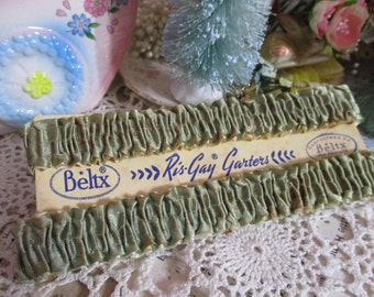 Antique Garter Set-Old Stock-Original Package-Unused-Ris-Gay-Beltx