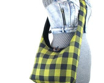 Sling Bag for Women - Crossbody Bag - Vegan Bag - Cross Shoulder Bag - Crossbody Purse - Bohemian Bag - Slouchy Hobo Bag - Yellow Bag