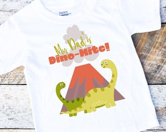 My Dad's Dino-Mite Onesies®, Dinosaur Toddler Shirt®, Me and Dad Onesie, Baby Boy Onesie, Daddy and Son Shirt, New Dad, Baby Boy Clothes