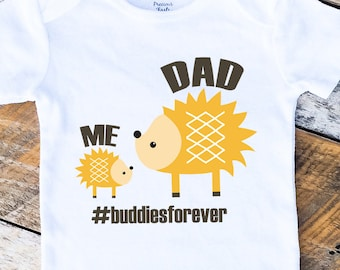 Father's Day Onesie, Buddies Forever Onesies®, Me and Dad Onesie, Baby Boy Onesie, Daddy and Son Shirt, New Dad, Baby Boy Clothes, Woodland