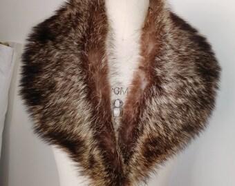 "Raccoon Fur Collar Lush and Thick 36"" X 3 1/2"""
