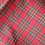 Custom Order for Uta- Red Tartan Raincoat- Size Large