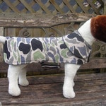 Custom Order for Agnes-Dog Jacket- Quilted Camoflage Coat- Size Medium