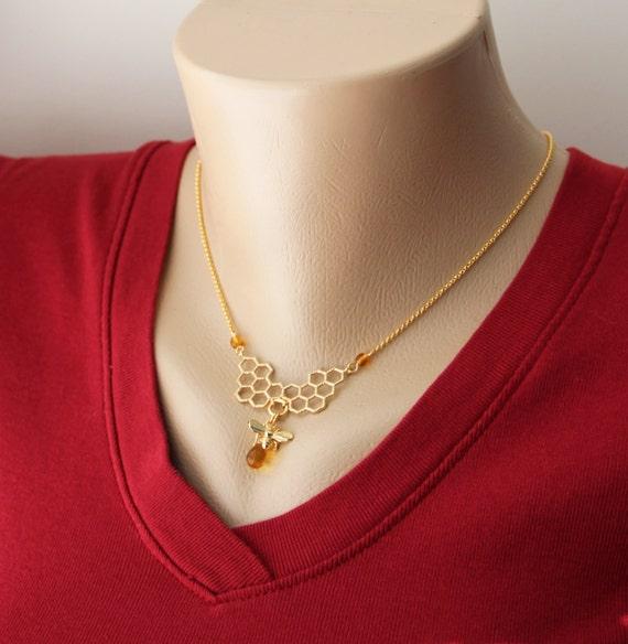 Antiguos plateado abeja Bumble Collar de Cadena de 16 pulgadas. miel