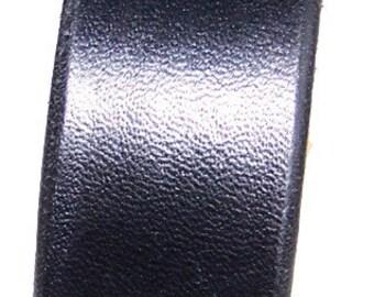 Item 060210 Black Leather Bracelet Wristcuff Wristband