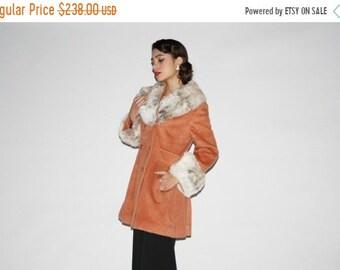 On SALE 60% Off - Vintage 1960s Mohair Women's Wool Fur Collar and Cuff Coat  - Vintage Wool Coat  - Vintage Fur Coat  - WO0336