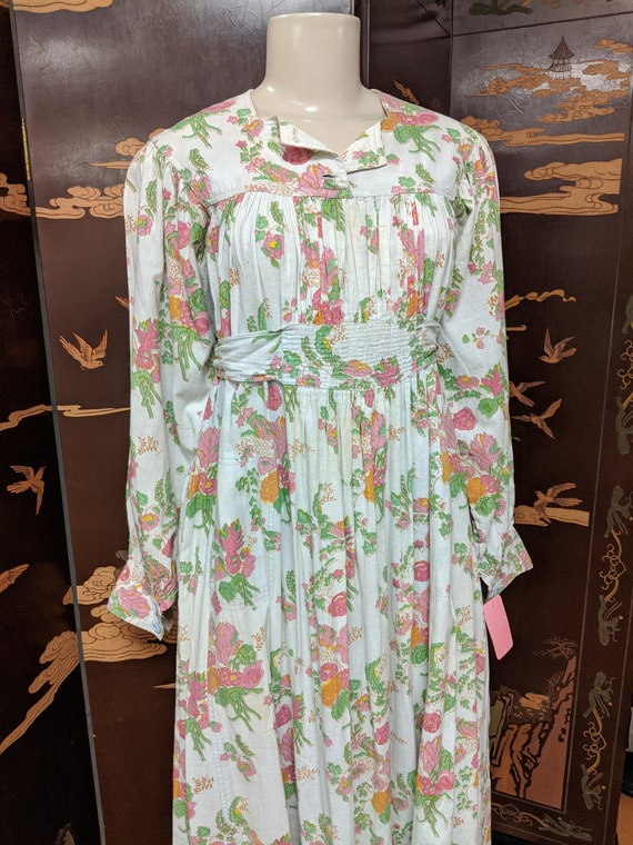 Vintage 1970s Maxi Length Smock Frock - image 2