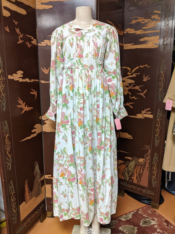 Vintage 1970s Maxi Length Smock Frock - image 1