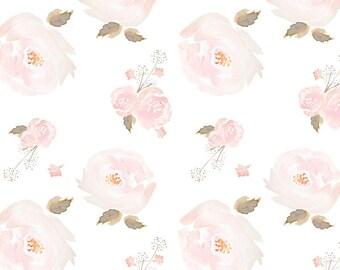 e48b7dfdb Baby Girl Sheet - Floral Crib Sheet / Mini Crib Sheets / Changing Pad Cover  / Pink Crib Sheet / Fitted Baby Sheets / White Pink Crib Bedding