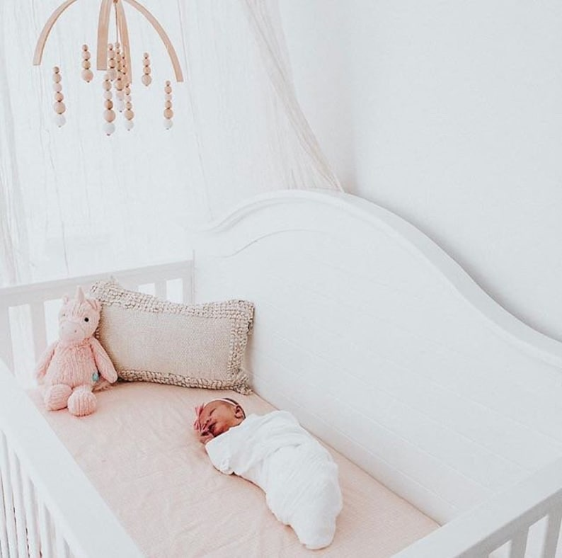 READY TO SHIP Blush Baby Bedding Girls Fitted Crib Sheets / image 0