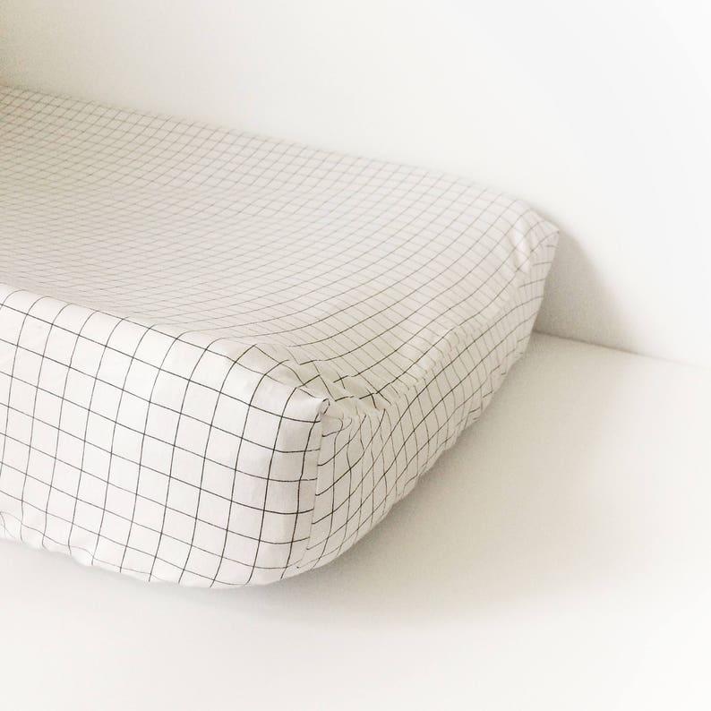 Fitted Crib Sheet  Nursery Bedding Neutral Crib Bedding Black White CHECK Unisex Baby Bedding READY SHIP