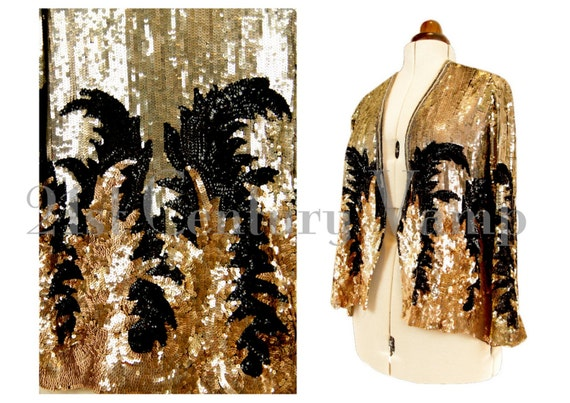 1920s Art Deco Sequin Jacket. Madam Satan. Jazz Ag