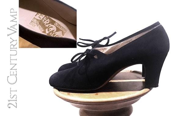 Rare 1930s Ferragamo Shoes. Custom